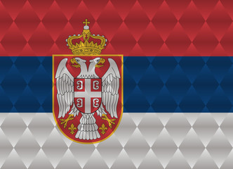 serbia low poly flag