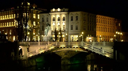 Ljubljana Triple bridge sLOVEnia