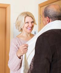 Portrait of smiling mature spouses