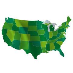 アメリカ 地図 国
