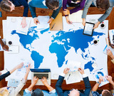 World Global Cartography Globalization International Concept - 81042963