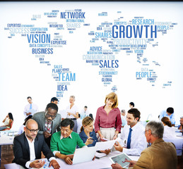 Growth Vision Sales Team Network Business Concept
