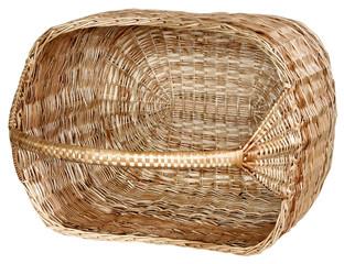 handmade wicker basket manually mastered of light brown rods