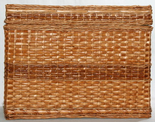 handmade wicker fabric wove of light brown rods