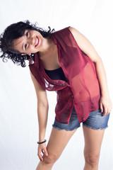 latina sonriendo