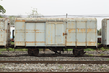 bogie of an old train parking