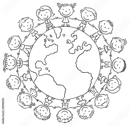 Раскраска земля мир
