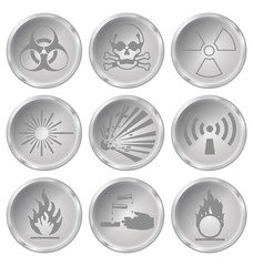 hazard related icon set
