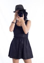 tomando fotos