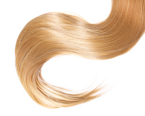 blond Hair isolated on white background