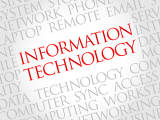 Information Technology word cloud concept