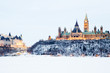 Leinwandbild Motiv Parliament hill in Ottawa, Canada
