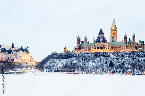 In de dag Canada Parliament hill in Ottawa, Canada
