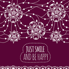 Banner Just smile and be happy