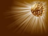 Fototapety Golden disco ball .