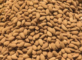 Closeup of nuts at a market stall