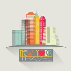new york skyline travel background