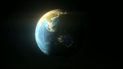 Earth Rotating, The World Spinning, Full Rotation, loop