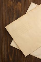 old envelope on wood