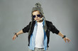 funny little boy in sunglasses.stylish kids.spring fashion