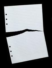 Notepad torn page