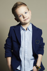 fashionable little boy.stylish kid in suit