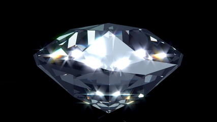 Glamorous diamond, 3D rendered. Loop able.