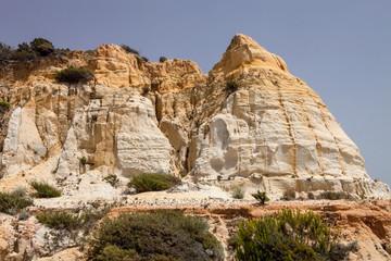 weathered limestone rocks on the southwest coast of Spain
