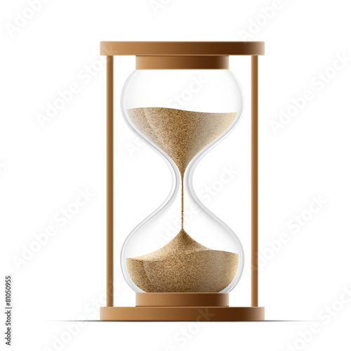 hourglass isolated on white background. - 81050955