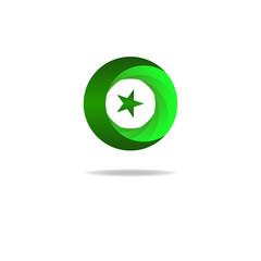 Islam symbol star and crescent, muslim sign