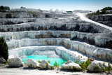 Open Pit White Marble Mine