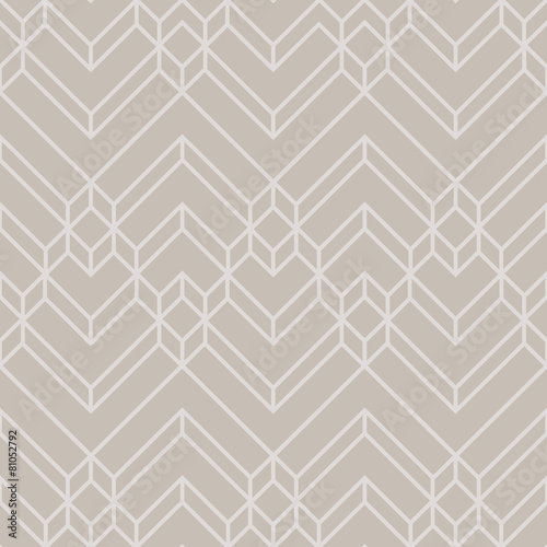 Abstract Luxury Gold & Beige Light Chevron Geometric Pattern - 81052792