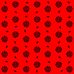Seamless roses pattern background, EPS10