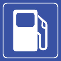 Vector gas pump icon or sign, EPS10