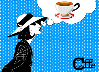 girl in coffee