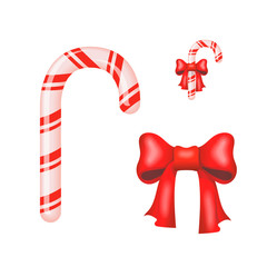 Christmas Candy Cane isolated on a white background. Vector