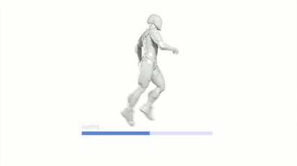 3D PROGRESS BAR - RUNNING SUPERHERO