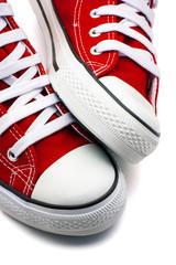 calzado deporte rojo