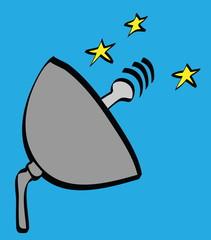 cartoon satellite dish icon