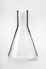 chemical glass flask closeup