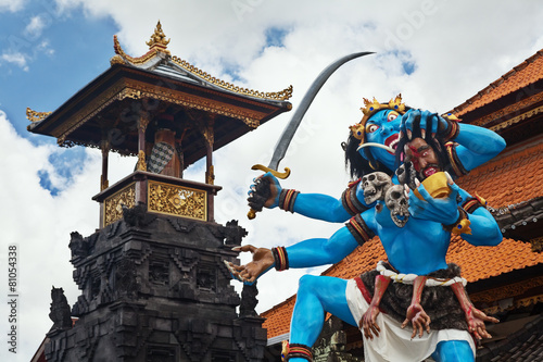 Traditional Balinese demon ogoh-ogoh for Nyepi parade