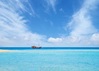 Fisherman's boat in the sea