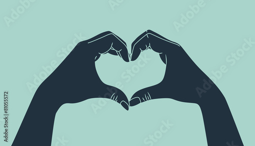 hand making heart sign - 81055572
