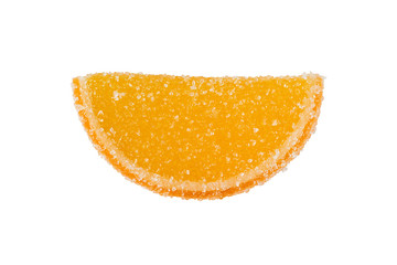 Slice Of Yellow-Orange Marmalade On A White Background.