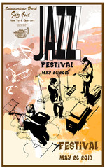 Jazz poster with guitars