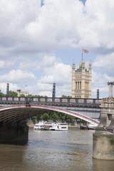 Houses of Parliament and Lambeth Bridge; London
