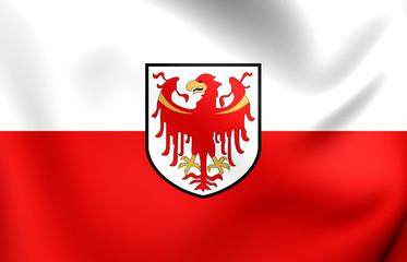 Flag of Trentino-Alto Adige, Italy.