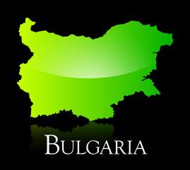 Bulgaria green shiny map