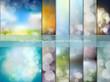 Zdjęcia na płótnie, fototapety, obrazy : Big set of blurry backgrounds with bokeh effect. Abstract vector