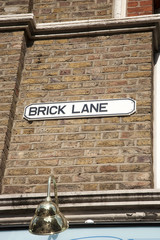 Brick Lane; Street Sign; Shoreditch, London
